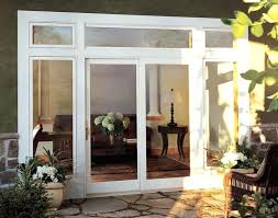 French Doors To Deck Door Living Room Traditional