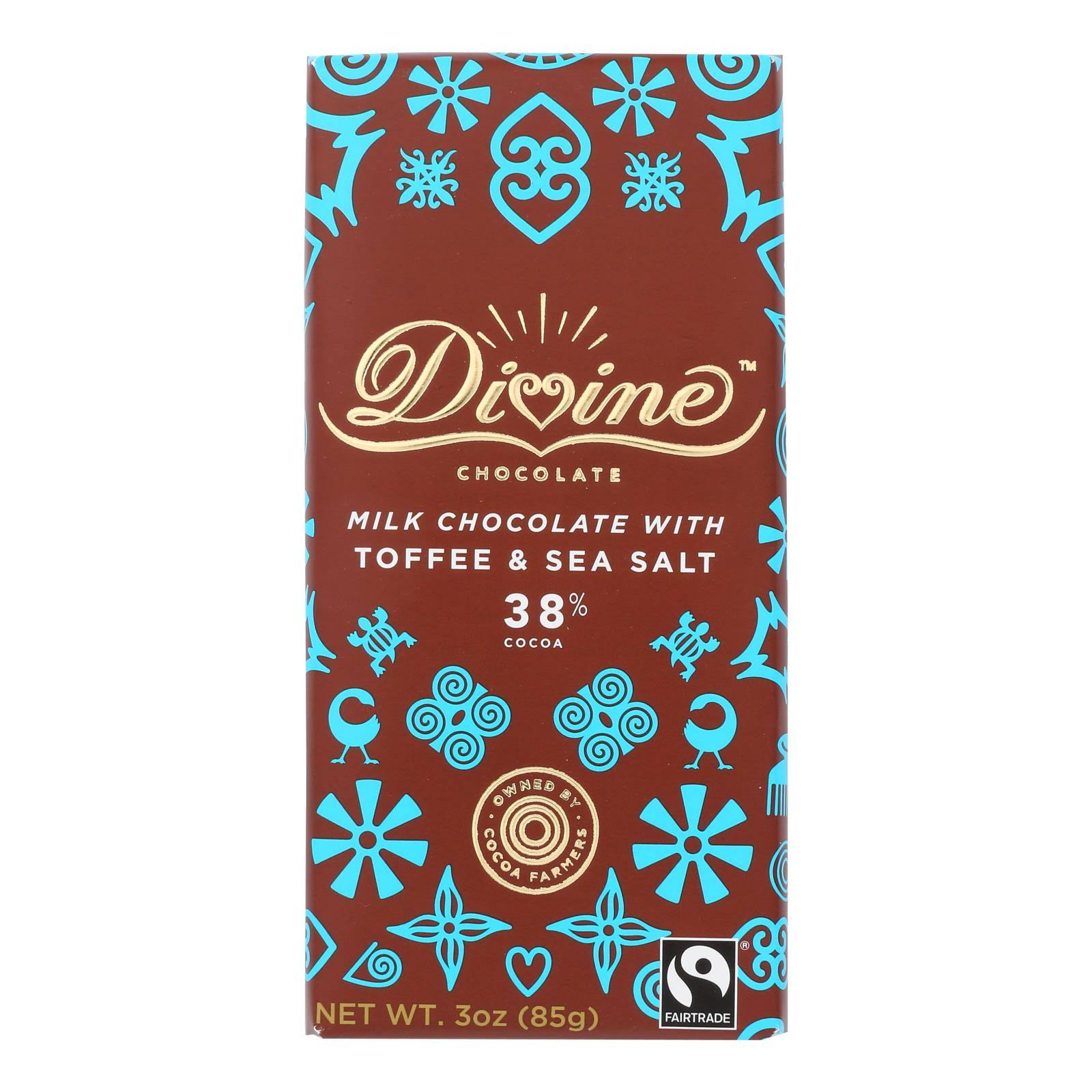 Divine Milk Chocolate - Toffee & Sea Salt, 3oz