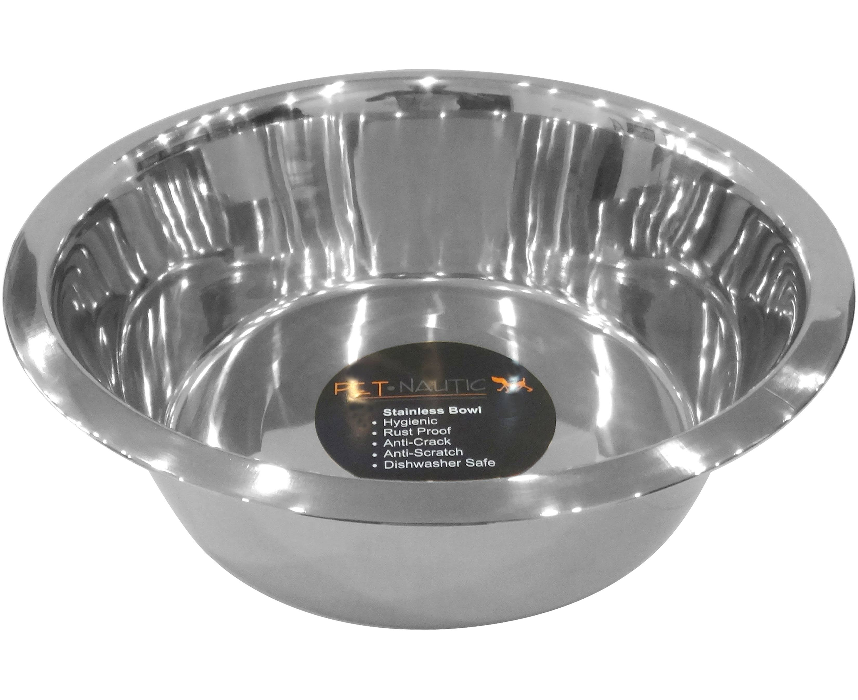 Pet Nautic Standard Feeding Dog Bowl 10Qt-Stainless Steel