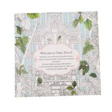 HengSong Secret Garden Time Travel And Coloring Book English12pages