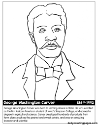 George Washington Carver Coloring Pages Az With Regard To Stylish As Well Gorgeous