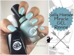 sally hansen miracle gel review by the crafty ninja youtube