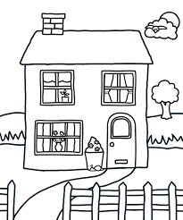 House Coloring Pages For Kids At Page