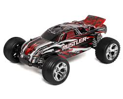 100 Traxxas Stadium Truck Rustler 110 RTR Red TRA370541REDX