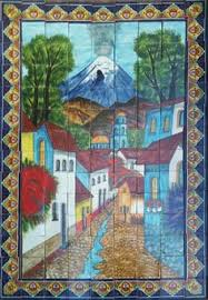 mexican talavera mural oceano terra artesana for the home