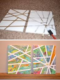 Easy Art Project For Kids Using A Canvas And Tape Ton Of DIY Super