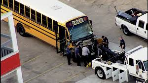 School Bus Involved In Wreck With Garbage Truck In West Houston ...
