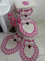 eulen badezimmer garnitur neu handgemacht