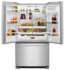 Counter Depth Refrigerator Dimensions Sears by Kitchenaid Krfc300ess 20 Cu Ft French Door Refrigerator