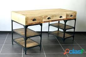 bureau metal et bois bureau metal bois fabulous bureau with bureau en bureau vintage