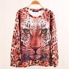 2013 animal sweatshirt sport hoodies clothing women winter 3d