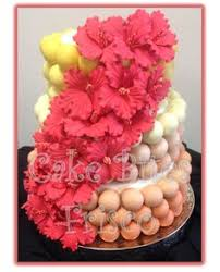 Hawaiian Cake Ball Wedding Weddingcake Cakebites Hibiscus Hawaii Beach