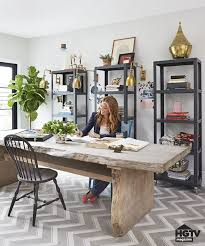 2 Computer Desk In Dining Room Beautiful Office Combination By Hgtv Designer Genevieve Garder