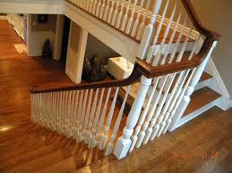 Wood Stairs And Rails And Iron Balusters: Wood Handrail Post Stair ... Remodelaholic Updating An Oak Stair Or Handrail To White And Walnut Rustic Wood Stair Railings Light Wood Staircase Best 25 Painted Banister Ideas On Pinterest Banister Remodel Top Ten Makeovers Link Party Railing Modern Neutral Wooden With Minimalist Steel Railing Bannister Banisters 12 Best Stairs Images Stairs Custom Interior Simple Also Rustic