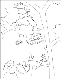 Zacchaeus In Tree Colouring Pages Page 2