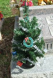Christmas Tree For Cemetery Ground Vase