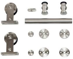 Sliding Door Hardware | 9400 Series Stainless Barn Door | Hager Amazoncom Hcom Rustic 6 Interior Sliding Barn Door Kit Barn Door Rails Quiet Glide Rolling Ladder Topic Related To With Hdware Knobs The Home Depot Eweis Homewares 6feet Country Steel Everbilt Stainless Decorative Hdware14455 Options Artisan Doors Asusparapc White Design John Robinson House Cabinet Room Pinecroft 36 In X 84 Millbrooke H Style Pvc Vinyl Office And Bedroom Rustica 42 Stain Glaze Clear Rockwell