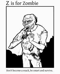 Abc Zombie Coloring Book