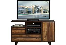 Moss Creek Brown 60 in Console TV Stands Dark Wood
