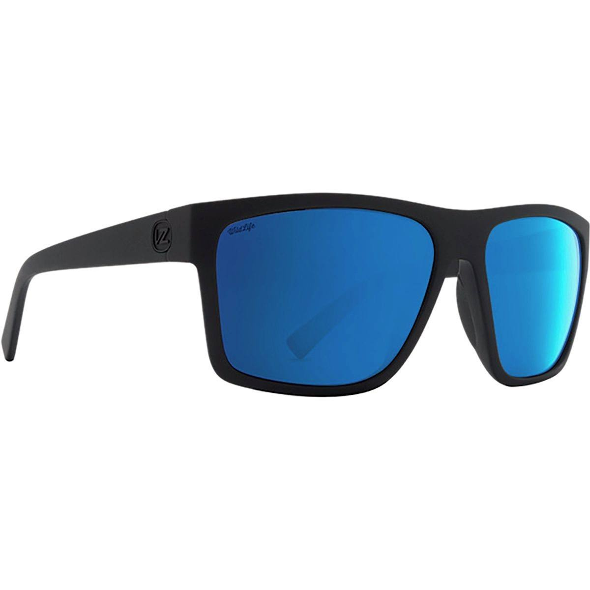 VonZipper Dipstick Polarized Black Satin Wild Blue Sunglasses