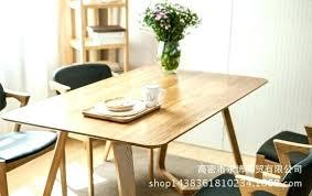 Japanese Style Dining Table White Oak Wood Simple V