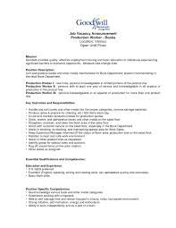 Resume Examples Manufacturing Supervisor Fresh Production Worker Samples Weoinnovate Of