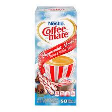 Coffee Mate Peppermint Mocha Liquid Creamer Singles 50 Piece X 3 8fl Oz 11ml