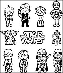 Yoda Coloring Page Wars Pages Printable Color Zini