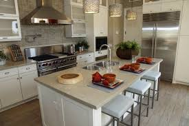 A Contemporary Kitchen In Gray And Beige With Bold Accents Of Orange The Wide Stove