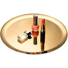 imeea servier tablett organizer tablett für bar küche badezimmer edelstahl 28cm gold