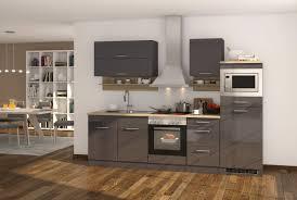 küchenzeile hochglanz grau einbauküche mit elektrogeräten