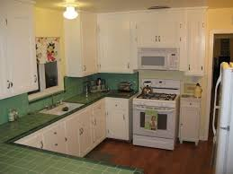 Tiled Kitchen Original 1945 With Cupboards New Shaker Doors To Match The In House I Found A L