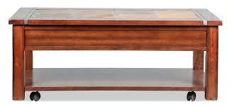 Roanoke Lift-Top Coffee Table - Slate And Cherry