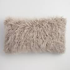 Oversized Throw Pillows For Couch by Oversized Mocha Mongolian Faux Fur Lumbar Pillow World Market