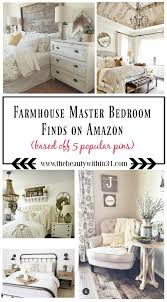 Here Is A List Of Farmhouse Master Bedroom Decor Finds From AMAZON Based Off Popular