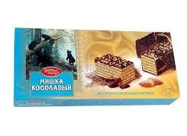 russische waffel torte mischka kosolapij 250 gramm мишка косолапый