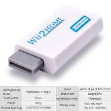 Amazoncom Wii To HDMI Converter Adapter With 35mm Audio Jack And