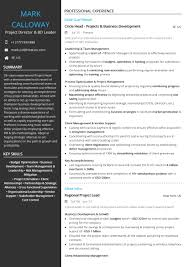 Project Management Resume Examples And Samples Director Leader For The Example Proje Full Size