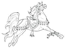 Spirit And Rain Horse Coloring Pages For Printable
