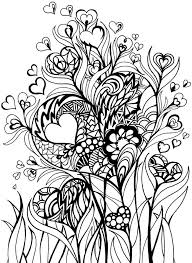 Hearts And Flowers Adult Coloring Pages Pinterest View Larger