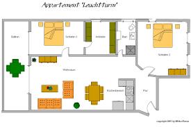 ausstattung appartement leuchtturm