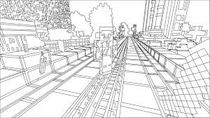 Coloring Page Minecraft Video Games 44