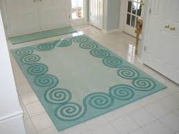 stylish and coolest entryway rugs green for white tile flooring