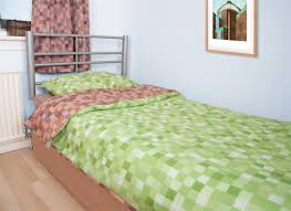 Minecraft Twin Bedding by Brown And Green Pixel Duvet Cover Inspired By Minecraft Grass And