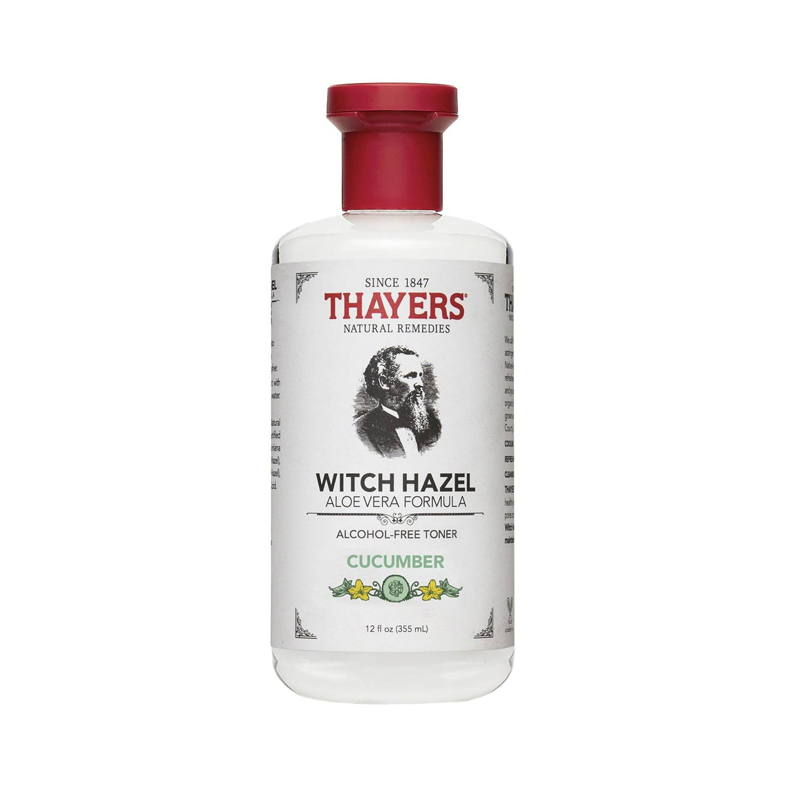 Thayers Witch Hazel Alcohol Free Toner, Cucumber - 12 oz bottle