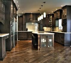 Dark Floor Kitchen Cabinets And Flooring Remarkable On Brown Wood Very Hardwood Floors