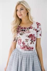 mauve rose floral top affordable modest bridesmaids dresses