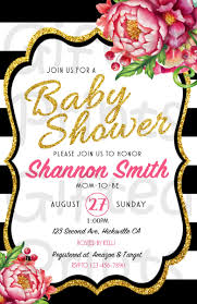 Kate Spade Baby Shower Invitation
