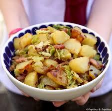 cuisiner chou frisé poêlée de pommes de terre sautées et chou vert