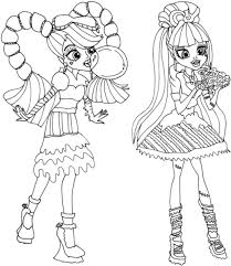 Friendship Monster High Coloring Page